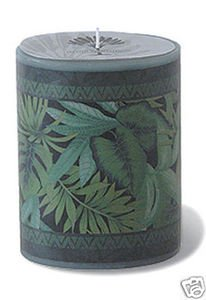 Hawaii Oval Decal Candle Jungle 4 x 3 x 5.25 in.