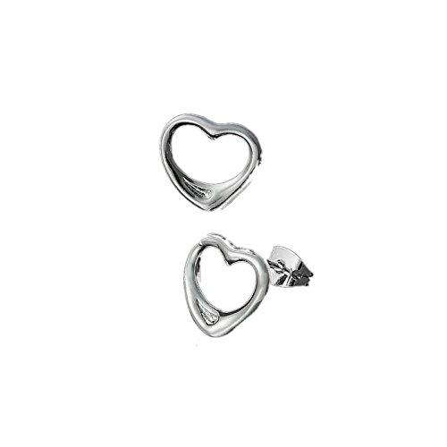 Neue Damen Mode Geschenk Mode Schmuck Frauen Ewigkeit Lieben Herz Pierced Studs Ohrringe