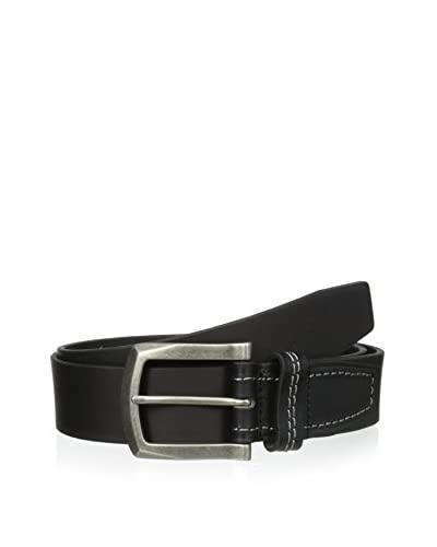 J.Campbell Los Angeles Men's Cut-Edge with Stitch-Tab Detail Belt