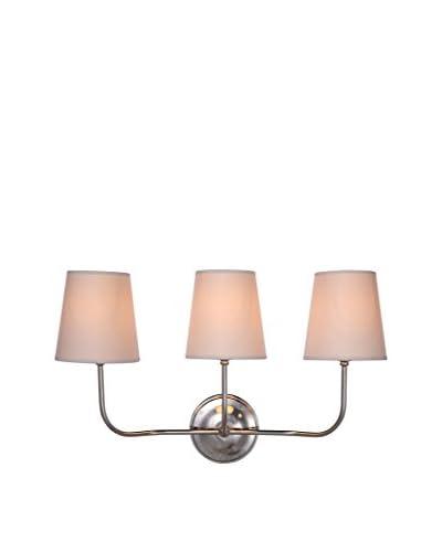 Urban Lights Lancaster 3-Light Wall Lamp, Polished Nickel