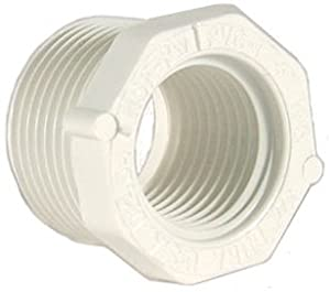 "Schedule 40 PVC Reducer Bushing 1-1/2"" MPT x 1-1/4"" FTP"