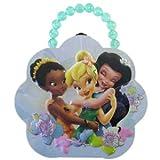 Flower 6in Pearl Handle Disney Fairies Friends Tinkerbell Tin Box - Tinkerbell Purse