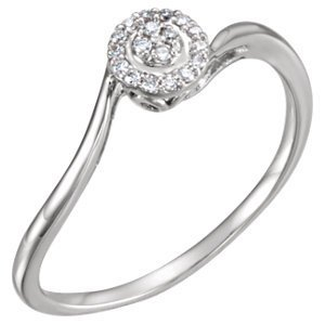 14kt White .07 CTW Diamond Ring