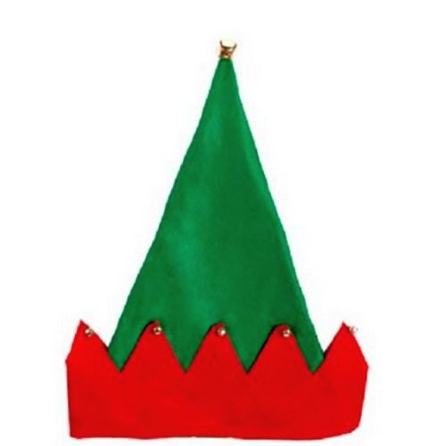 Felt Santa Elf Costume Hat with Bells