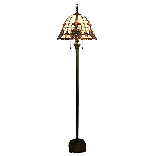 lampadaire-elegant-avec-abat-jour-vitrail-et-sculpte-base-de-resine-nuomeijur-nmj095