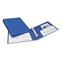 Heavy-Duty Vinyl EZD Ring Reference Binder, 1 Capacity, Blue by MyDirectAdvantage
