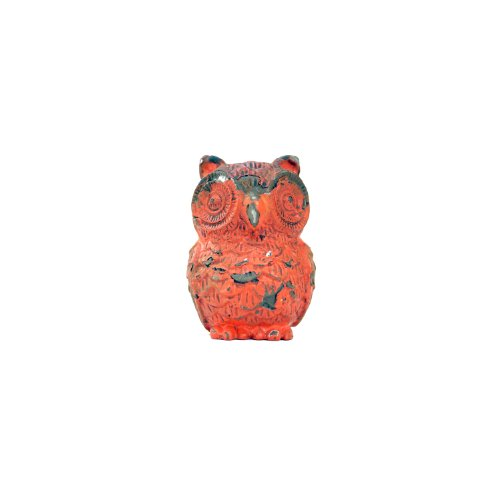Owl Drawer Pull, Red - 1