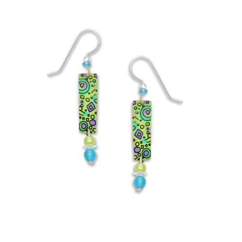 Adajio By Sienna Sky Green Column Bead Drop Earrings 7093