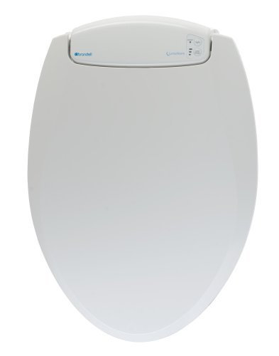 Brondell L60-EW LumaWarm Heated Nightlight Elongated Toilet Seat, White