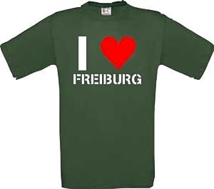 T-Shirt I LOVE FREIBURG DEINE STADT CITY Edition Größen S-XXXL