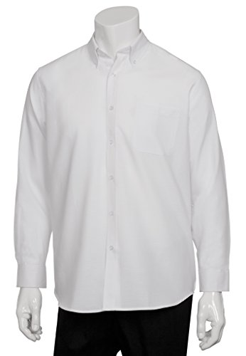 Unisex uniforme Funziona Oxford camicia lavoro Outfit Top Maglia donna, plastica, Bianco, xl