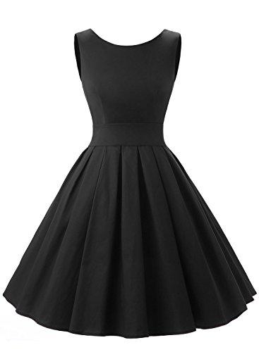 Dressystar Robe à 'Audrey Hepburn' Classique Vintage 1950S Style XXX-Large Noir