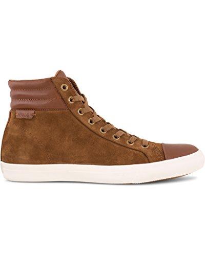 Ralph Lauren Geffron sneaker uomo modello polacchino A85Y0465DC011 (41, MARRONE)