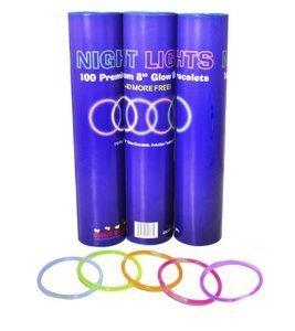 """Glow Stick Bracelets- Tube of 100 8"""" Premium Glow Stick Bracelets Plus 10 Free (110 Bracelets Total)"""