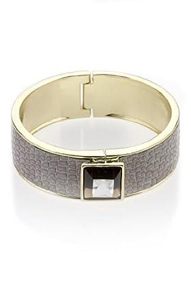 Autograph Faux Snakeskin Print Diamanté Cuff Bracelet