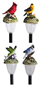 COLEMAN CABLE 92249 Moonrays Birds Of North America Mini Solar Light Assorted