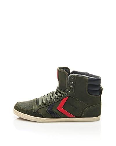 HUMMEL Sneaker Alta Slim Stadil Oiled High Verde Militare EU 38