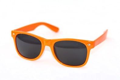 Classic Orange Wayfarer Blues Brothers Sunglasses