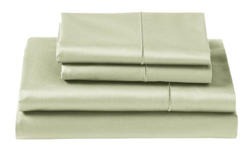 Cuddledown 400 Thread Count X-Long Fitted Sheets, Twin, Sage front-900076