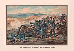 30 x 20 Stretched Canvas Poster U.S. Army - Field Batteries, Malvern Hill, 1862