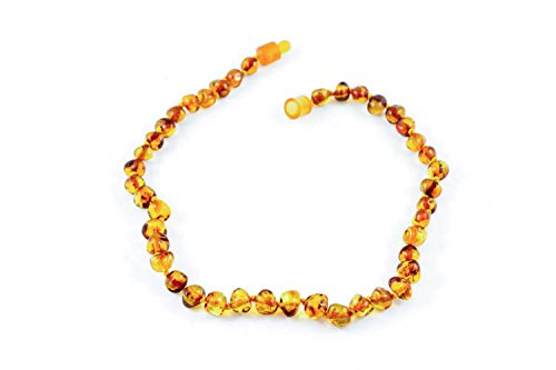Healing Hazel 100% Balticamber Baby Necklace, Cognac Polished - 1