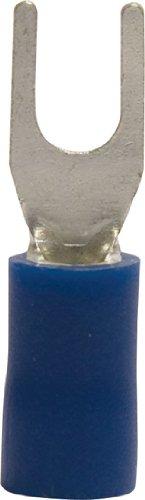 Gardner Bender 10-113 Terminal Spade, 16-14 AWG, Stud Sz 4-6, Blue  (100 pk)