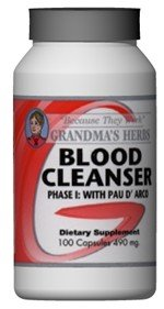 Blood Cleanser Phase 1 - All Natural Herbal Supplement That Cleanses The Blood And Stimulates The Immune System - 100 Capsules