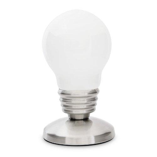 Fergie Rossa: Lampada da tavolo a forma di lampadina design retro 22 cm
