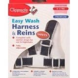 Clippasafe Easy Wash Webbing Baby Harness Navy White