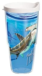 Tervis GH-I-24-HAM-WRA Guy Harvey Hammerhead Shark Wrap Tumbler with White Lid 24-Ounce