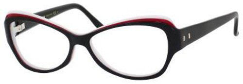 Yves Saint Laurent Yves Saint Laurent 6369 Eyeglasses-0LR2 Black Red White-54mm