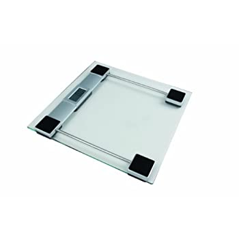 Think tank Technology personal glass scale features 6 mm tempered glass and 22 mm LCD numbers. This scale has auto-on and automatic zero, switch off, low battery and overload indication and weighing unit switch between lb./kg.