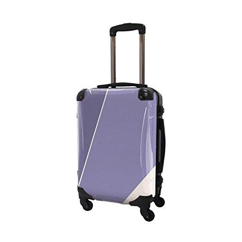 キャラート アートスーツケース ベーシック シューティカルコーデ (パープル ヘイズ×バイオレット チューリップ) フレーム4輪 機内持込 CRA01-034H