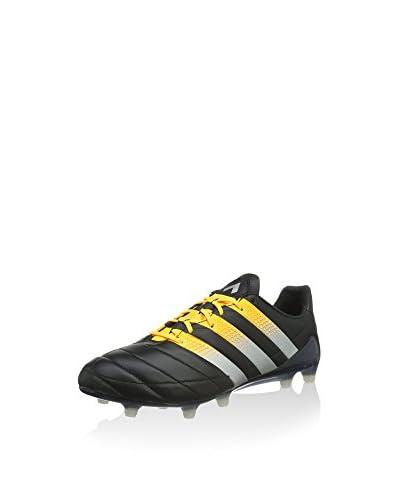 adidas Botas de fútbol ACE 16.1 FG/AG Leather Negro / Naranja