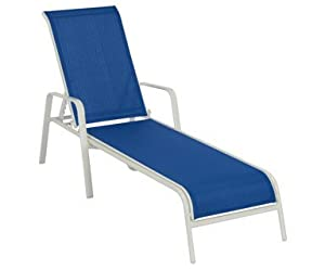 Dc america chaise lounge fantasy 75 x 25 6 x for Blue sling chaise lounge
