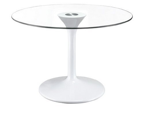 Image of Tempered Glass Top Table With ABS Column And Base (B000PBND8K)