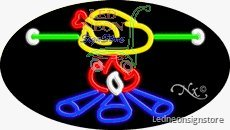 "Bbq Neon Sign 17 Inch Tall X 30 Inch Wide X 3.5""0 Inch Wide X 3.5 Inch Deep O..."