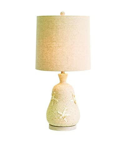 Couture Seaside 1-Light Table Lamp, Mother of Pearl/Natural