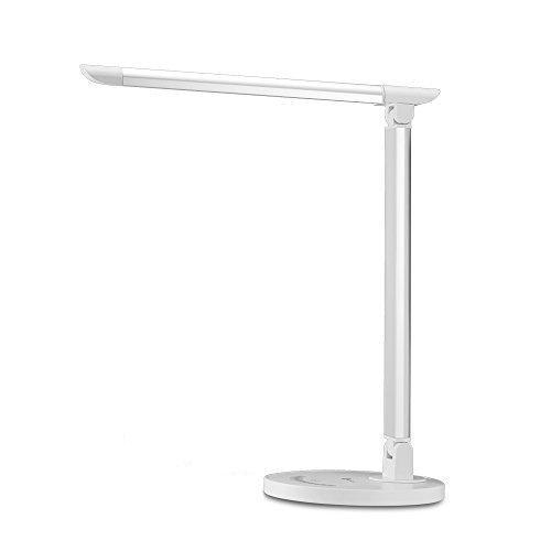 TaoTronics-12W-Schreibtischlampe-LED-Tischleuchte-5-Farb-und-7-Helligkeitsstufen-dimmbar-Touchfeldbedienung-USB-Anschluss-fr-Aufladung-des-Smartphones