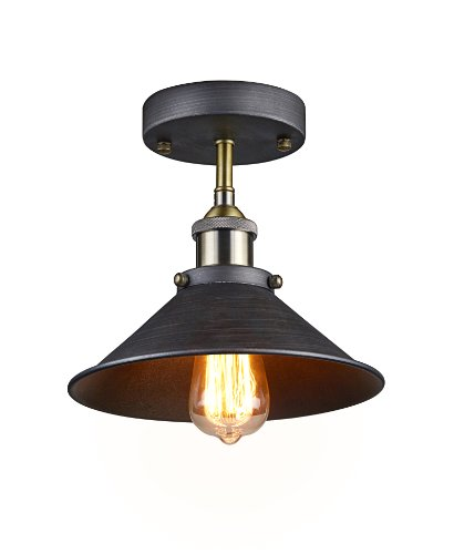 Ecopower industrial mini edison ceiling light 1 light rustic touch rustic decor and furniture for Edison bathroom light fixtures