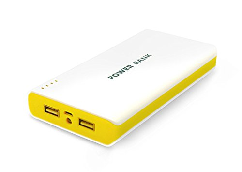 Petiisntoyde 50000mAh Dual USB-Energien-Bank-beweglich0e Ladegerät für iPad iPhone 6 Samsung Galaxy Smartphones HTC Hinweis4 Digital Devices (gelb)