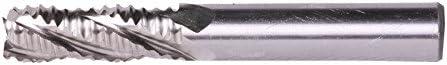 ZFEreg 1pc 4F Mills Hss Roughing End Mill Cutting- 30mm Diameter