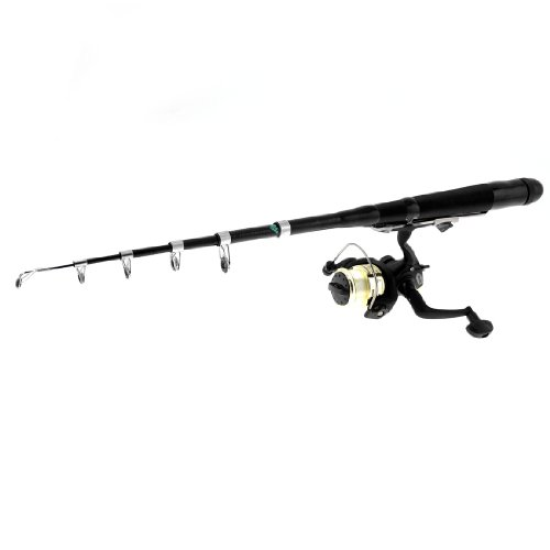 1.2 Meter Carbon Fiber 6 Sections Telescopic Fishing Rod Fish Pole