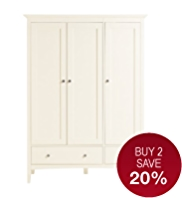 Hastings Ivory Triple Wardrobe