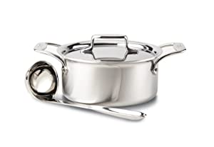 All-Clad BD553033 Brushed d5 Stainless Steel 5-Ply Bonded Dishwasher Safe 3-Quart Soup Pot... by All-Clad