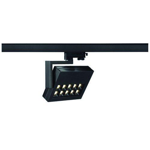 SLV LED 3-Phasen Strahler Profuno, 18W, 3000 K, 30 Grad, inklusiv Adapter, schwarz 152540