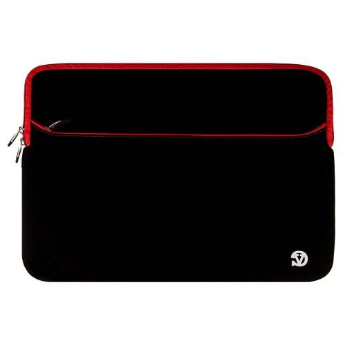 VG Neoprene Zipper Sleeve Cover (Red Trim) for Gateway NE Series 17.3 inch Laptop / Gateway NV Series 17.3