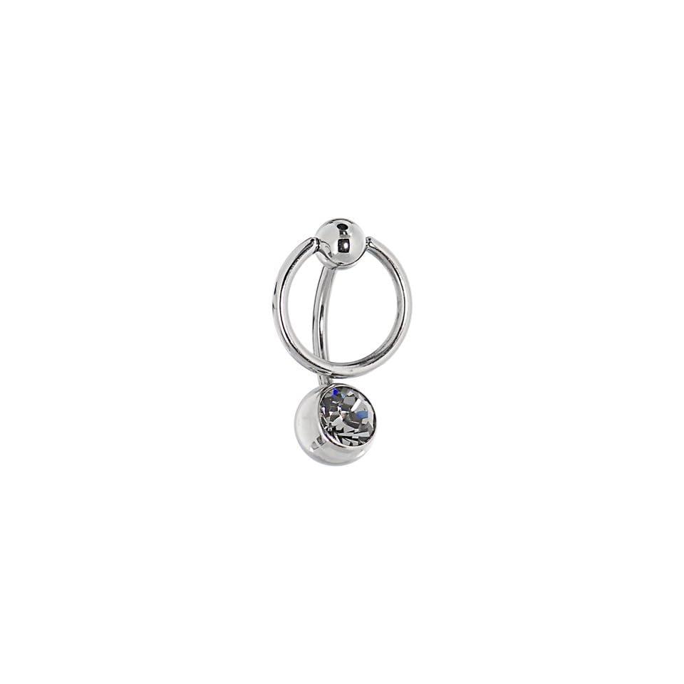 Black Dusk Enslaved Bcr Belly Ring Made With Swarovski Elements Body