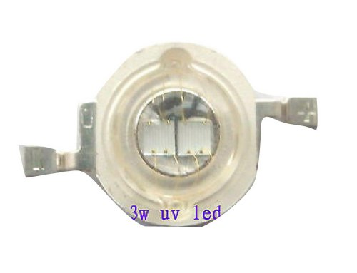 50Pcs 3W Uv Ultra Violet High Power 3Watt 2-Chip Led 395-405Nm Light Lamp Bead B