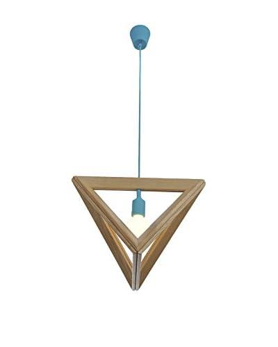 Lampada 3D Triangle Wood